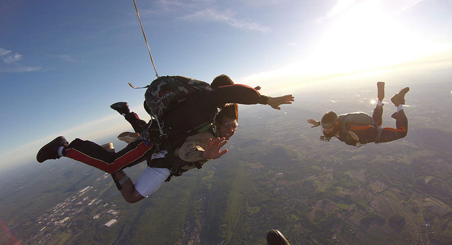 Above the Poconos Skydivers Dropzone Image