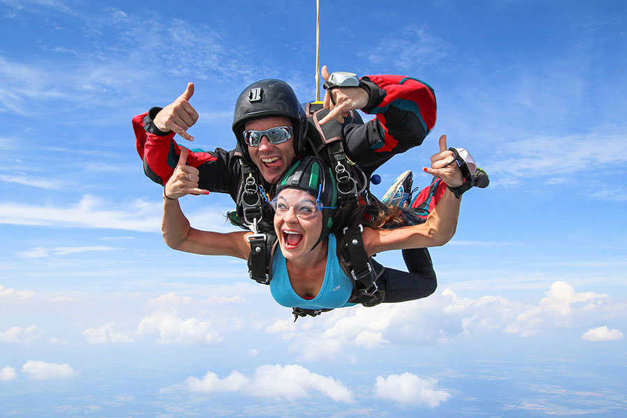 Skydive Orange Dropzone Image