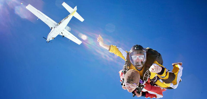 Taupo Tandem Skydiving Exit
