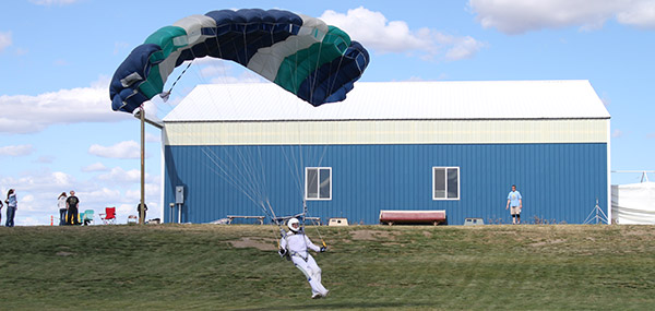Skydiver Landing their Parachute